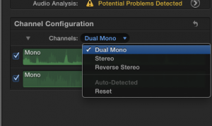 Dual Mono from single channel stereo FCPX