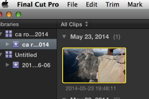 FCPX projects